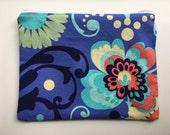 Zipper Sandwich Bag, Essential Oil Bag, Makeup Bag - Floral