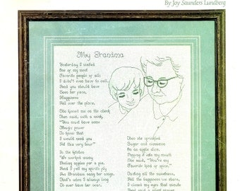 My Grandma and My Grandpa Grand Child Visting Family Poetry Poem Tribute Counted Cross Stitch Embroidery Craft Pattern Leaflet 16