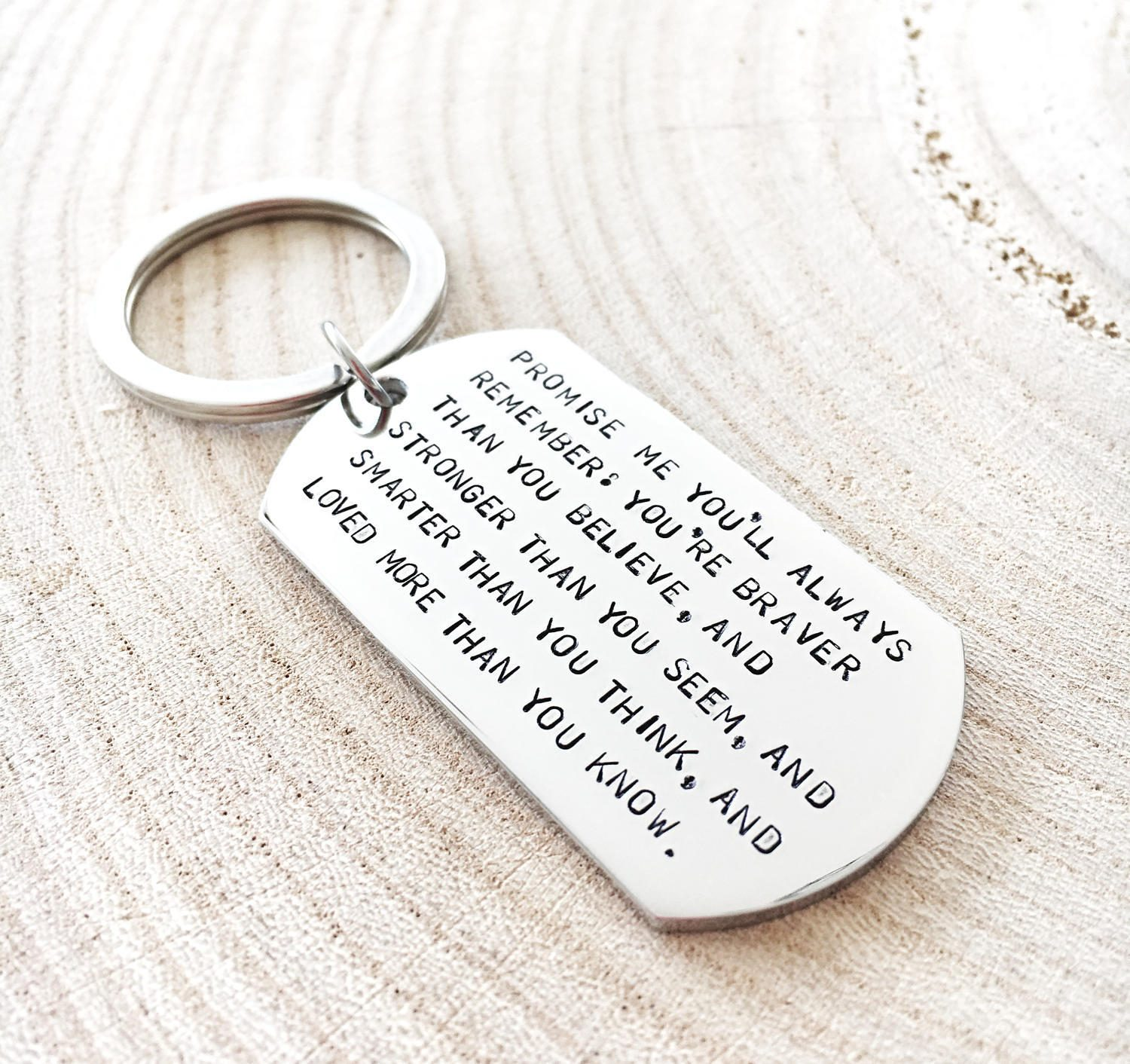 Birthday Gifts For Him In His 20s: Graduation Keychain Quote Keyring Inspiration Gift For Him