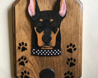 Doberman Pincher Dog Leash Hanger