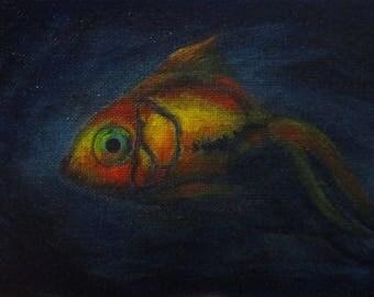 Glowfish II - original daily painting by Kellie Marian Hill