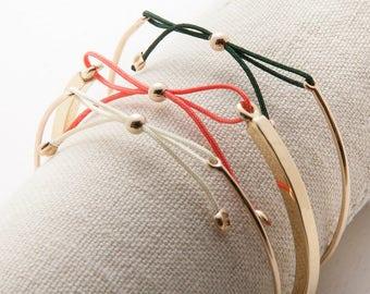 14K Gold Town Square Bracelet 2.5MM - Bridesmaid Set of 6