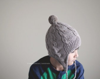 Earflap Hat - Cable Earflap Hat