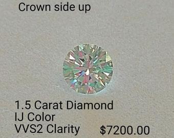 1.5 Carat Round Loose Diamond