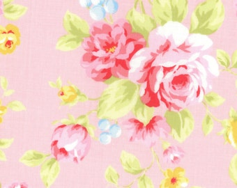 Antique Flower in Pastel 2016  Collection Cotton Fabric by Lecien 31420-20  Roses on Pink