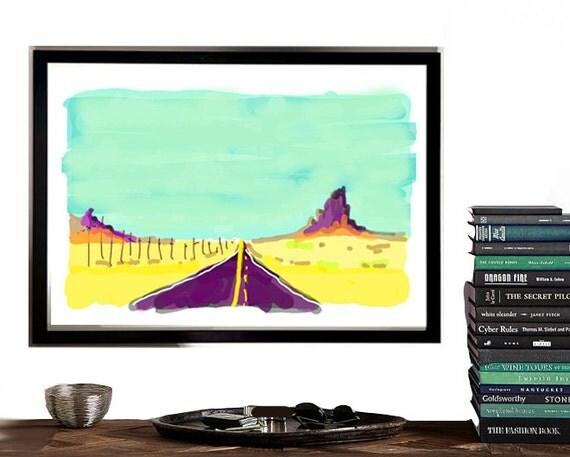 Digital Art, Ship Rock New Mexico, Quick Digital Sketch, Instant art, southwest art, abstract, roadtrip art