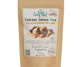 Cascara Ginger Loose Leaf Tea by Cozy Leaf