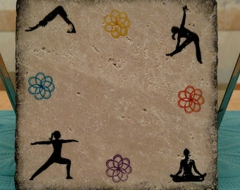 4 Pose Yoga Trivet/Candle Plate (2 styles)