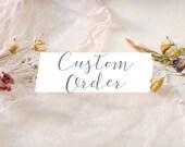 Custom order for joneslaurenj