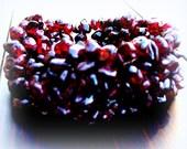 BELLA BELLA - Garnet bracelet, Garnet stretch bracelet, gemstone bracelet, bohemian, tribal, southwestern, native american jewelry, Zen,boho
