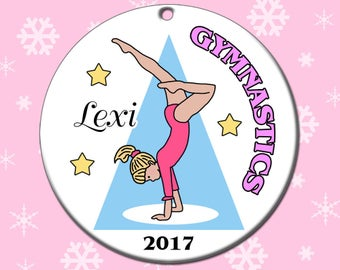 Gymnastics Ornament - Personalized Handstand Design