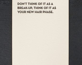 new hair. letterpress card. #934