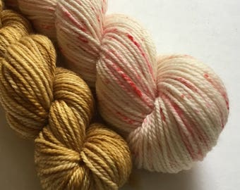 Ice cream sundae custom dyed yarn and flavour