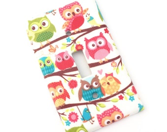 Happy Flappers Owls Light Switch Plate Cover