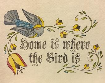 Meyers Parrot original watercolor