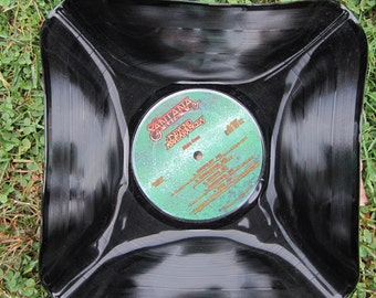 "Santana Genuine Vintage 33rpm Upcycled LP Record Bowl featuring  ""Beyond Appearances""  on Columbia Records"