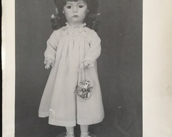 "Free Shipping/Byron Doll Pattern/Reproduction Doll BY-136/""PRISCILLA""/Vintage Doll Pattern/Fits a 19.5"" Doll/Uncut"