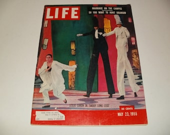 Vintage Life Magazine May 23 1955 Daddy Long Legs Cover - Art Vintage Ads Scrapbooking Collectible