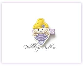 Little Ballerina Hair Clip, Ballerina in Purple Hair Clip, Girls Ballerina Hair Clip, Ballet Hair Clip, Dance Hair Clip, Ballet Dance Clip
