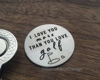 Valentines Day Gift for Him I Love You More than You Love Golf Golf Ball Marker Husband Gift Birthday Gift Boyfriend Gift for Husband