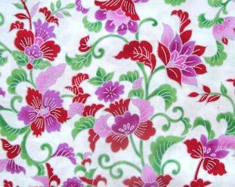 Jakarta (red) by Hoffman California International Fabrics - 1 1/2 yards, 1 yard, 1/2 yard, and Fat Quarters                        03/2017