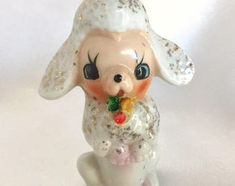 Vintage Ceramic Kitsch Lamb Figurine Japan