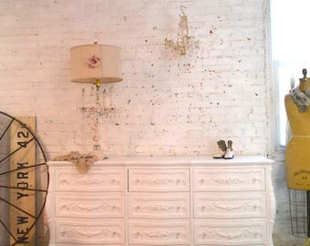Painted Cottage Chic Shabby French Dresser/ Chest DR895