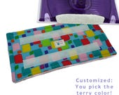 """Reusable Pads fits Swiffer Wet Jet, """"COLOR LAB BLOCKS"""". Washable Pads for EcoFriendly cleaning with your Swiffer WetJet. EcoGreen Pads"""