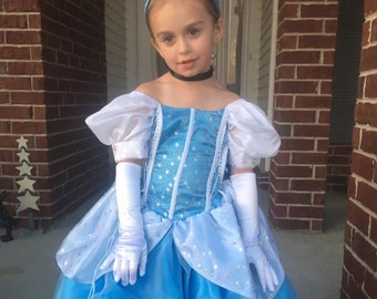 New cinderella Inspired Costume Birthday girl toddler princess dress size  2 4  8