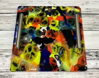 Color Explosion Handmade Glass Tray