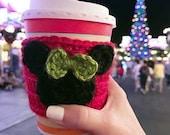 Disney coffee cup cozy, coffee sleeve, Minnie Mouse, disney christmas vacation, halloween, fall autumn accessory, christmas Minnie Mouse