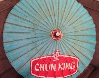 Vintage Chun King Parasol Umbrella Asian Paper
