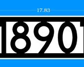 Custom address sign for Sherilyn