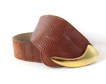 Vintage Calderon Rust Suede Belt // Size Small