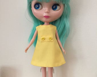 Yellow Mod Shift Dress for Blythe