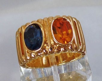 SALE Vintage 14K GE Blue Gold Stone Ring by Joseph Esposito