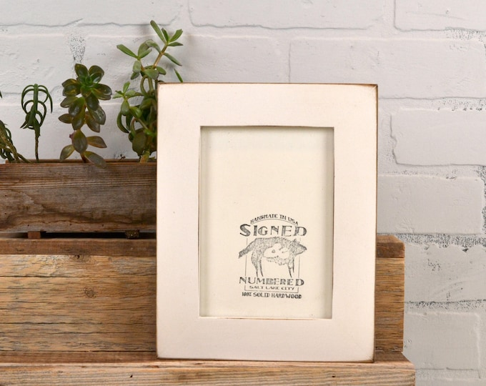 "5x7"" Picture Frame in 1.5 Standard Style on Alder with Vintage White Finish - IN STOCK - Same Day Shipping - 5 x 7 Photo Frame"