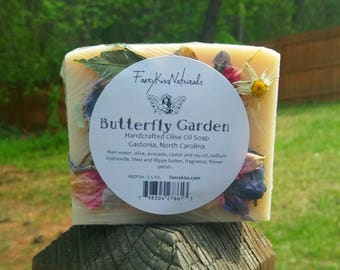 Butterfly Garden - Handmade Rustic Olive Oil Vegan Soap