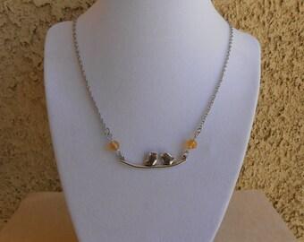 Citrine Bird Necklace