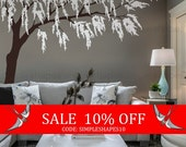 Sale - Cherry Blossom Wall Decal, Cherry Blossom Decal, Baby Nursery Wall Decal, Willow Tree Wall Decal, Nursery Design