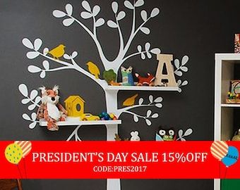 President's Day Sale - Wall Decals Nursery - The Original Shelving Tree Wall Decal - Nursery Decor