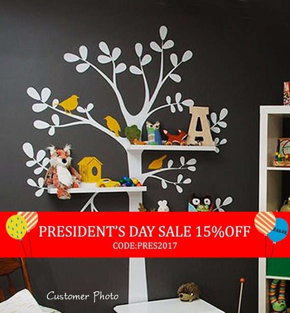 President's Day Sale - Wall Decals Nursery - The Original Shelving Tree Wall Decal - Nursery Decor