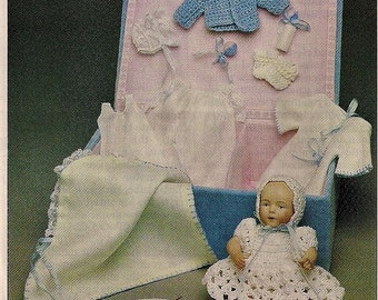 Sewing Pattern - Kestner Doll Layette to Sew - 5.25 inch doll Clay Baby