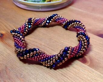 Berry Twist Bead Crochet Kit, Pattern and Thread, Limited Edition Bead Kit