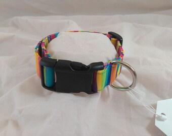 Rainbow Dog Collar, Rainbow Cat Collar, Pet Collars
