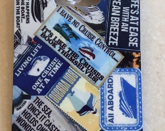 Cruise Themed Luggage Tag