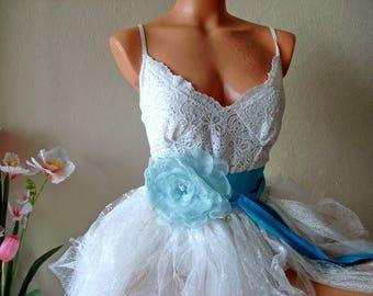 Large flower wedding belt, Blue Flower Sash Belt, large flower sash,  bridal accessories, Blue wedding accessories