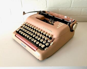 Pink Smith-Corona Silent-Super Typewriter - Priscilla - Professionally Serviced