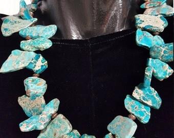 Sea sediment jasper necklace
