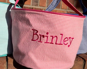 Monogram Easter Basket for girls and boys.  Perfect Tote for Eggs and Easter Goodies.  Monogram with Initials or Name!